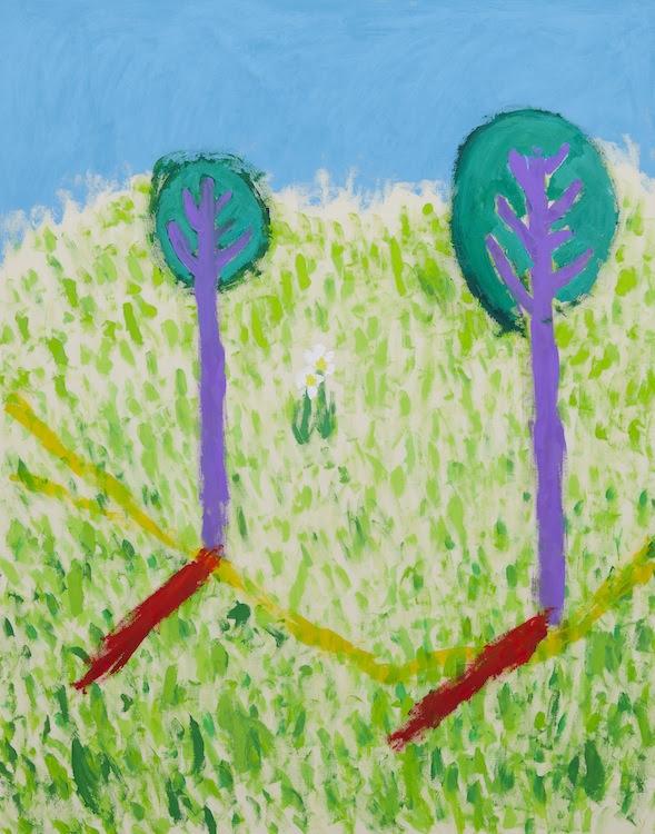 イサム・ノグチの手紙 5ページ目 a letter from ISAMU NOGUCHI p5 2019 acrylic on canvas 151.0 x 121.0 cm (C)Ellie Omiya