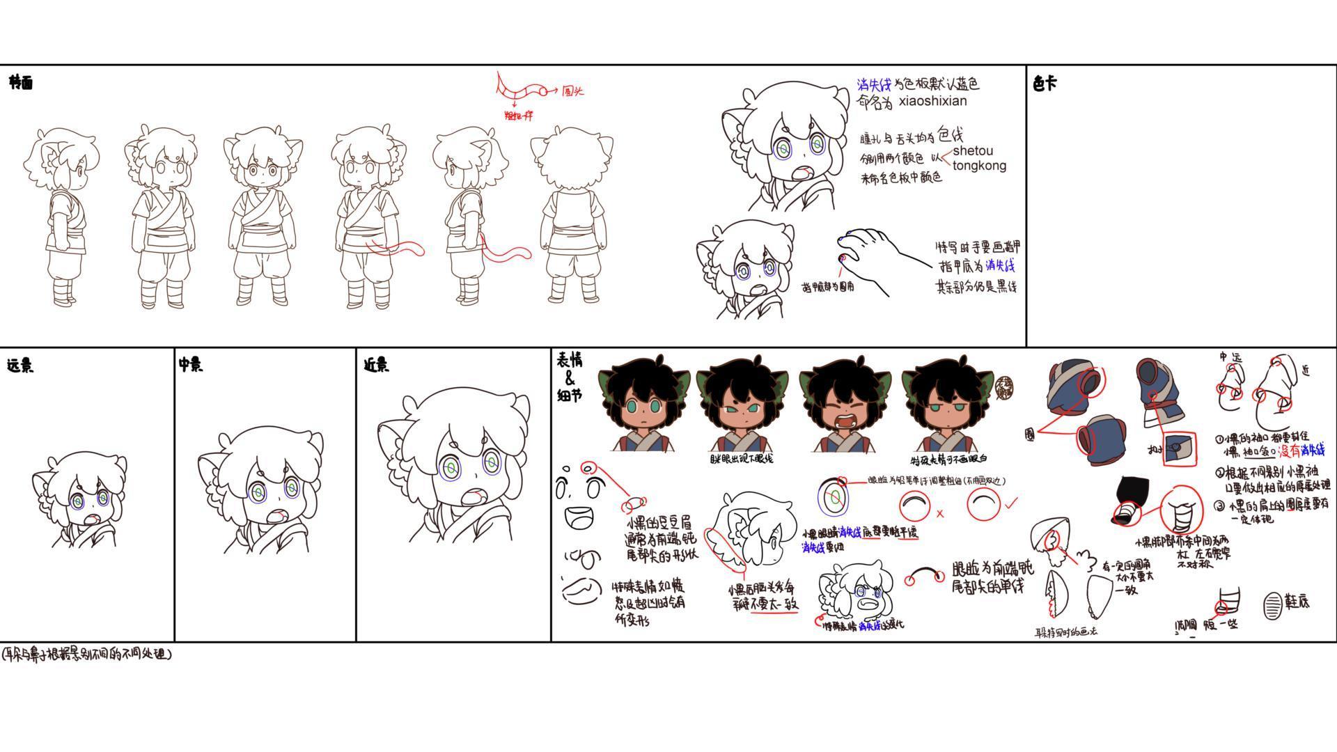 設定画〈シャオヘイ〉 (C) Beijing HMCH Anime Co.,Ltd