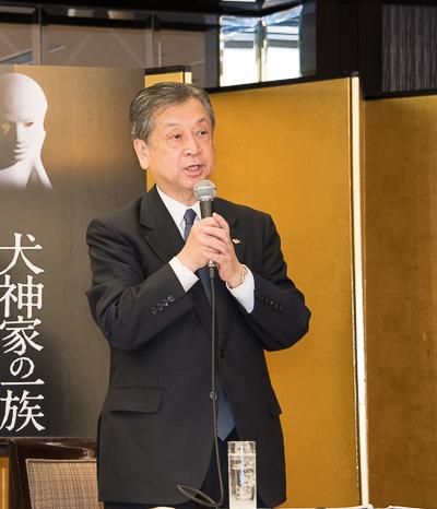 松竹株式会社副社長 安孫子正氏。