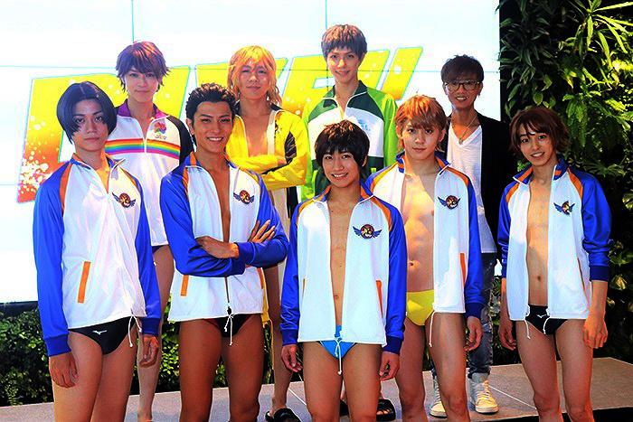 (前列左から)高橋健介、財木琢磨、納谷健、牧島輝、杉江大志(後列左から)西野太盛、安達勇人、瀬戸祐介、伊勢直弘