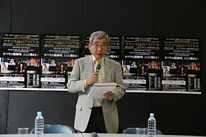 公益財団法人東京二期会理事長・中山欽吾氏 (撮影:安藤光夫)