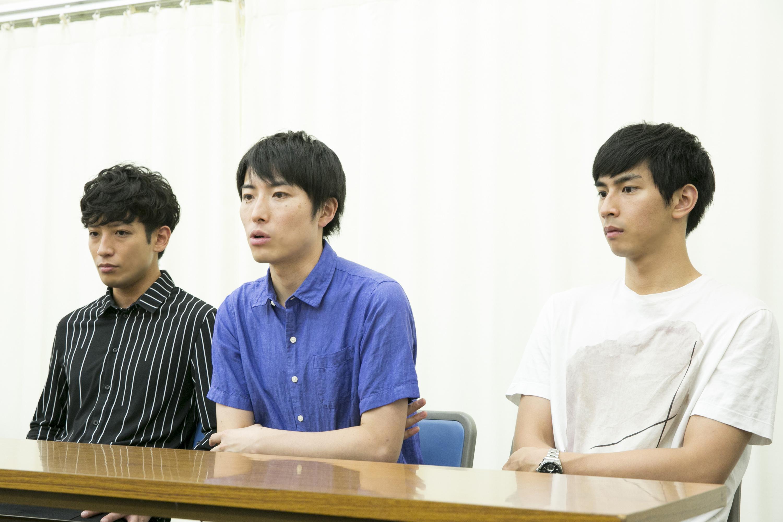 (左から)陣内将、中屋敷法仁、市川知宏