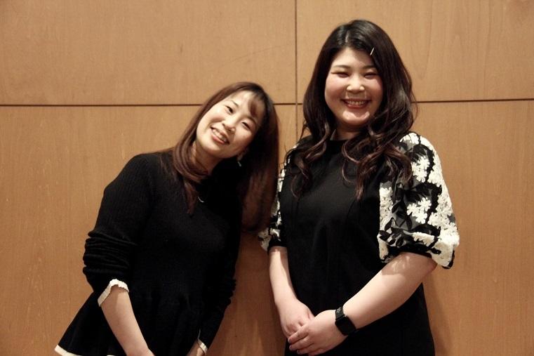 「魔笛」では親子役を演じた二人 船越亜弥(右)、脇坂法子     (C)H.isojima