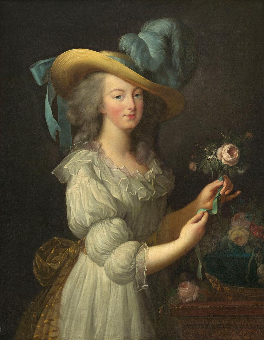 エリザベト=ルイーズ・ ヴィジェ・ル・ブラン《ゴール・ドレスを着たマリー・アントワネット》1783年頃 ワシントン・ナショナル・ギャラリー、ティムケン・コレクション