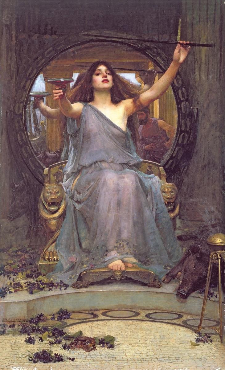 ジョン・ウィリアム・ウォーターハウス 《オデュッセウスに杯を差し出すキルケー》 1891年 油彩・カンヴァス オールダム美術館蔵 Image courtesy of Gallery Oldham