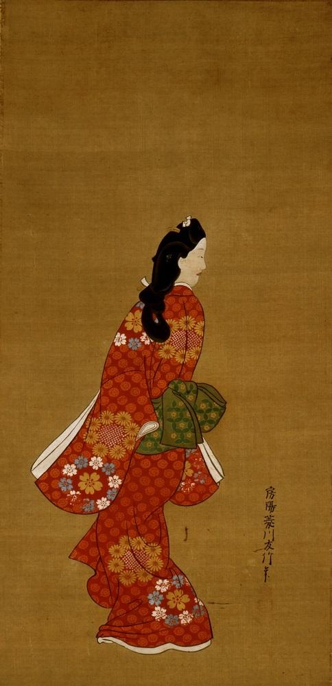 見返り美人図 菱川師宣筆 江戸時代・17世紀 東京国立博物館蔵