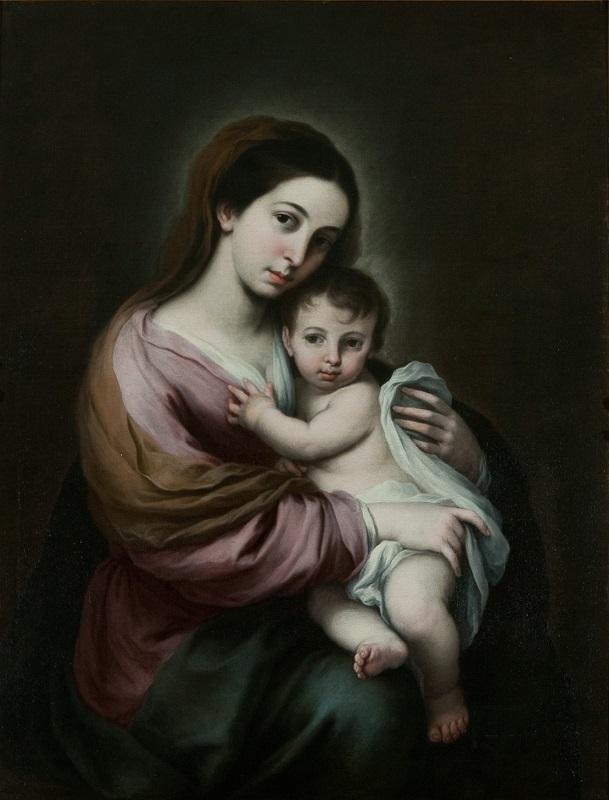 バルトロメ・エステバン・ムリーリョ《聖母子》 ヨハネ・パウロ2世美術館©Museum John Paul Ⅱ Collection