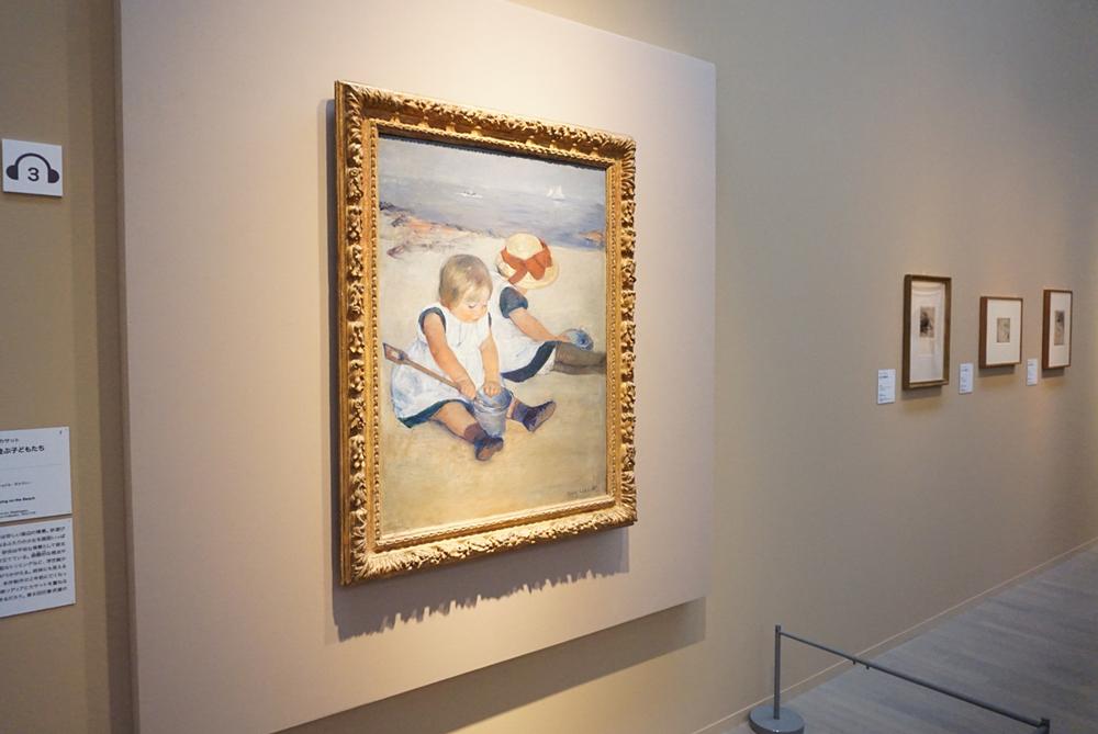 メアリー・カサット《浜辺で遊ぶ子どもたち》1884年 ワシントン・ナショナル・ギャラリー蔵