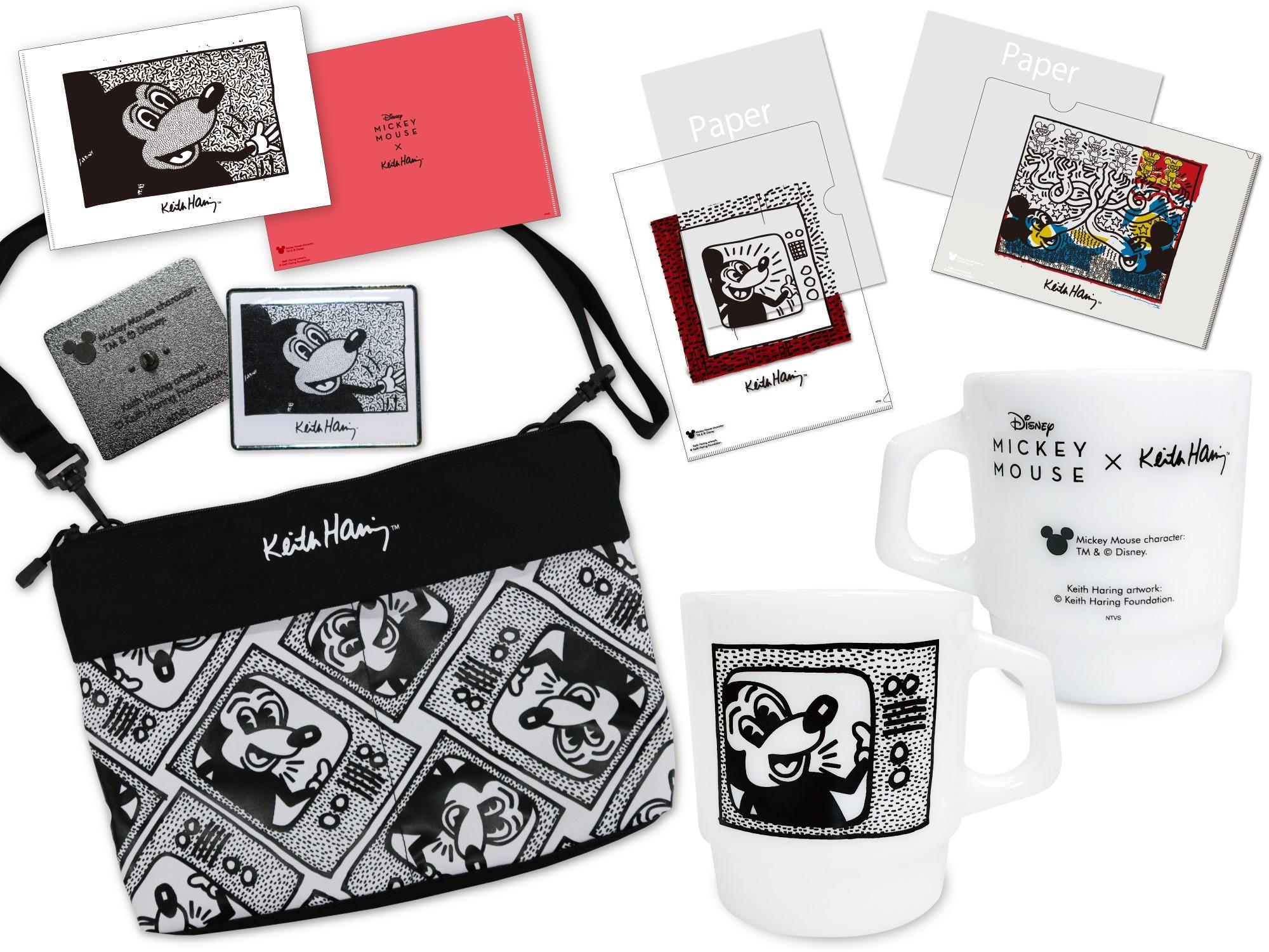 キース・へリンググッズ(一部) Mickey Mouse character: TM & (C)Disney. Keith Haring artwork: (C)Keith Haring Foundation.