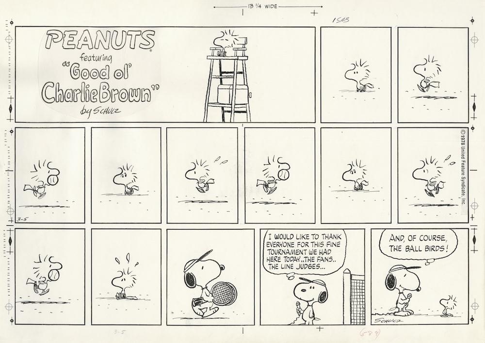 「ピーナッツ」原画 1978年3月5日