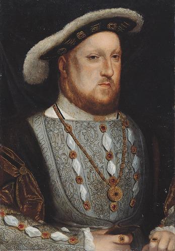 《ヘンリー8世》 King Henry VIII after Hans Holbein the Younger, probably 17th century(1536) (C)National Portrait Gallery