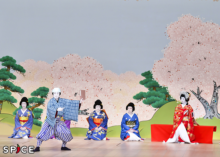 『闇梅百物語』左から、読売=松本幸四郎、籬姫=中村鶴松 提供 松竹(株)