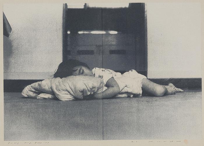 野田 哲也《日記 1977年8月8日》和紙に木版、シルクスクリーン 59.9×84.4cm 1977年 上野の森美術館蔵  ※画像写真の無断転載を禁じます
