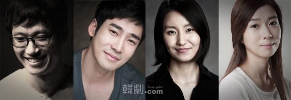 (写真左から)フン役のイ・ミョンヘン、パク・ソングォンとエナ役のキム・ソジン、キム・ジヒョン