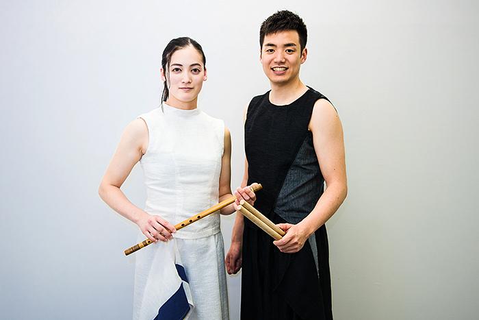 鼓童 住吉佑太(右)・山脇千栄(左)