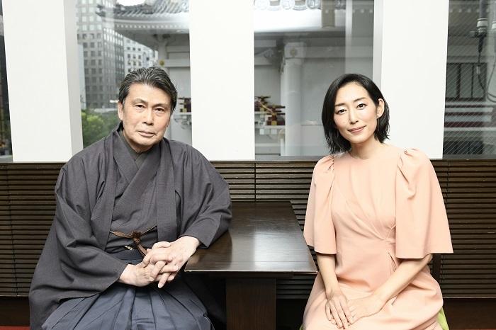 『歌舞伎家話』(左から)松本白鸚、木村多江 (C)松竹