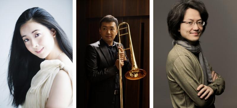 (左から) 小林沙羅、中川英二郎 (C)武藤章、 鈴木優人 (C)Marco Borgrreve