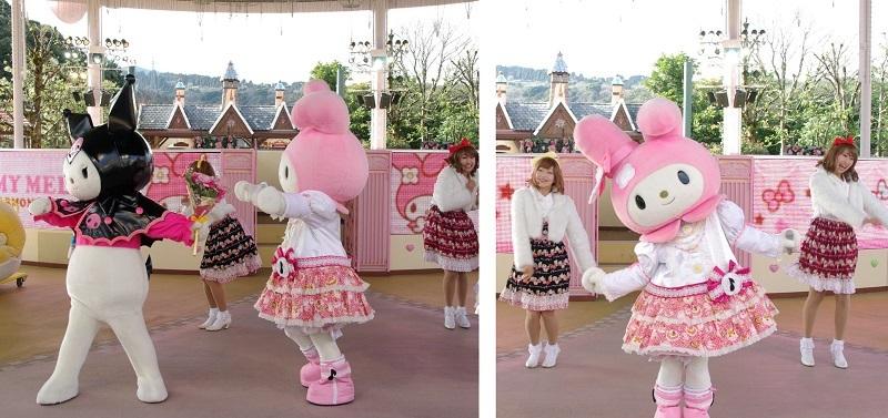 マイメロディがリーダーのアイドルユニット「メロたむずハーモニー」で登場!※昨年画像より