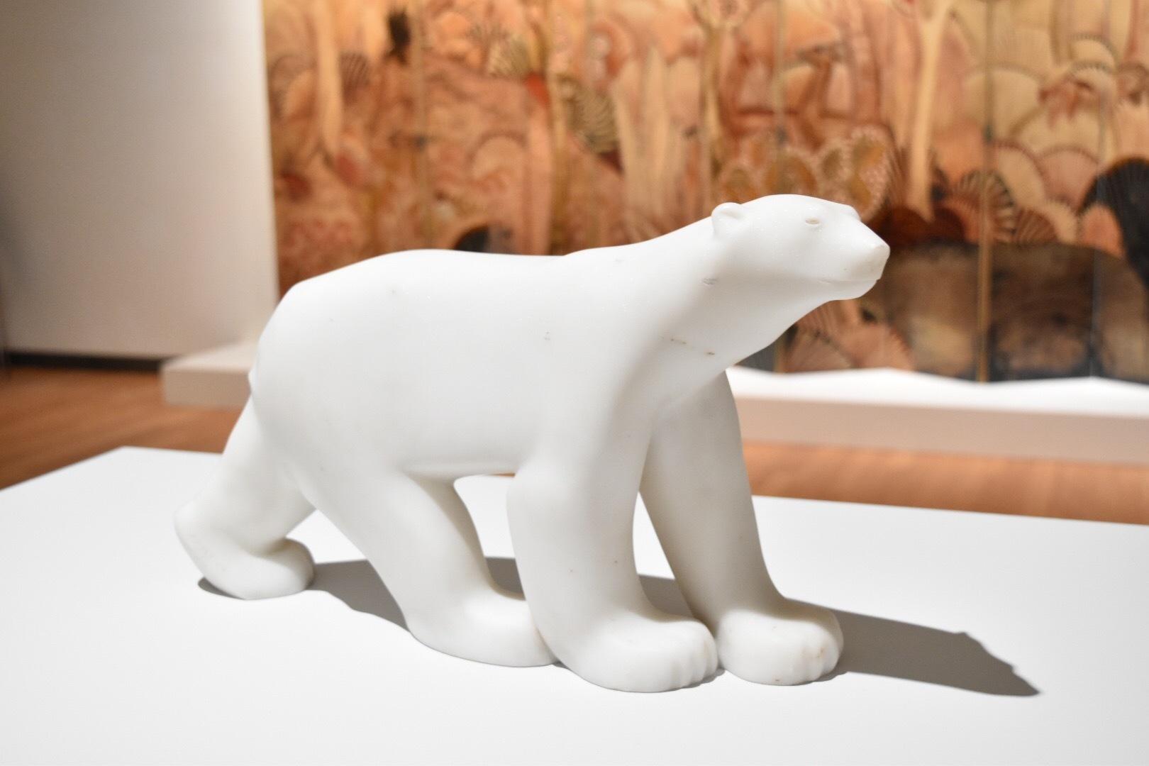 《シロクマ》 フランソワ・ポンポン 1923-33年 群馬県立館林美術館蔵
