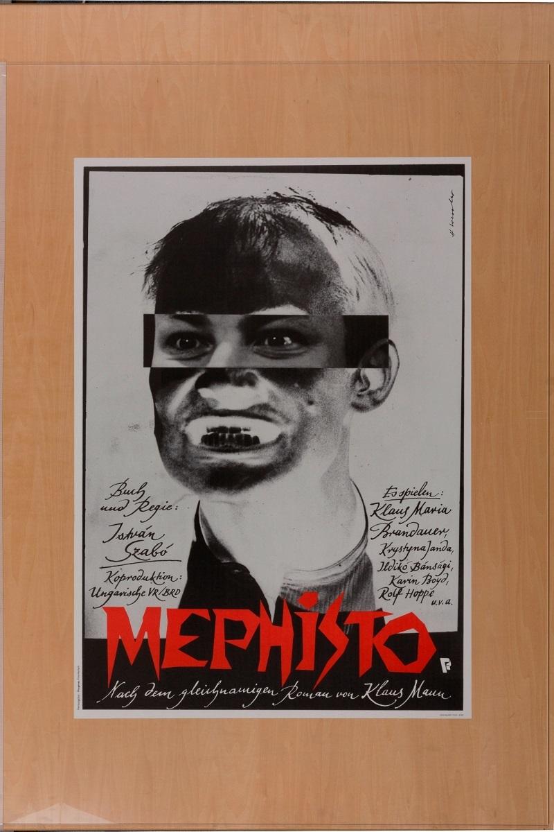 『メフィスト』(1981 年/ハンガリー/サボー・イシュトヴァーン監督) ポスター:ホルスト・ヴェスラー(1981 年) フィルムセンター所蔵
