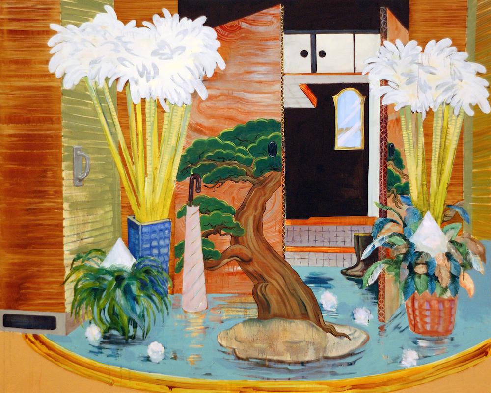 ギャラリーヤマキファインアート 中山明日香 feng shui 2015年 キャンバスに油彩 130.3×162 cm