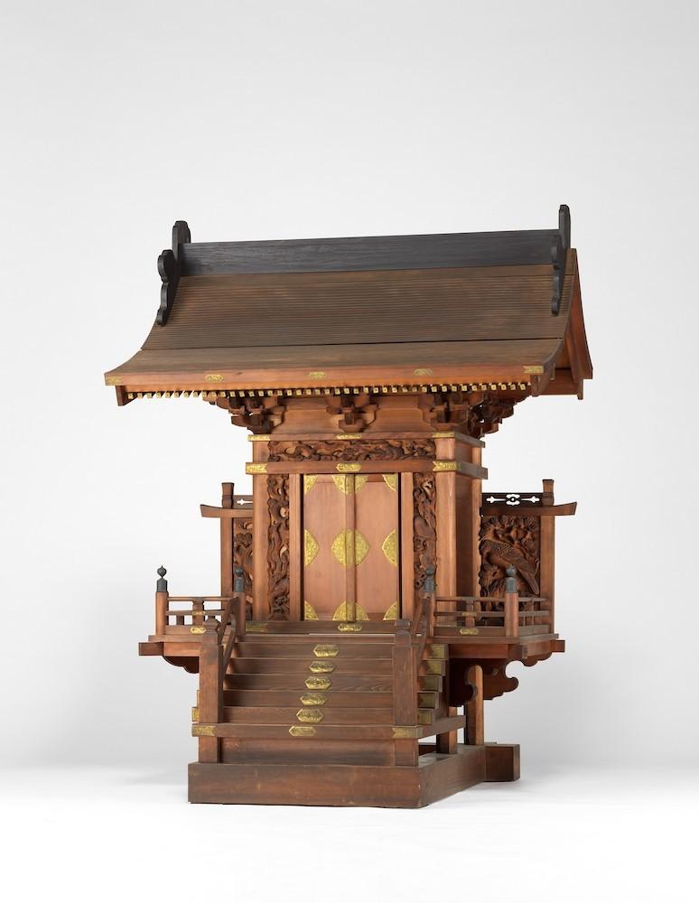 《富永稲荷社殿》19世紀前半 江戸東京博物館所蔵