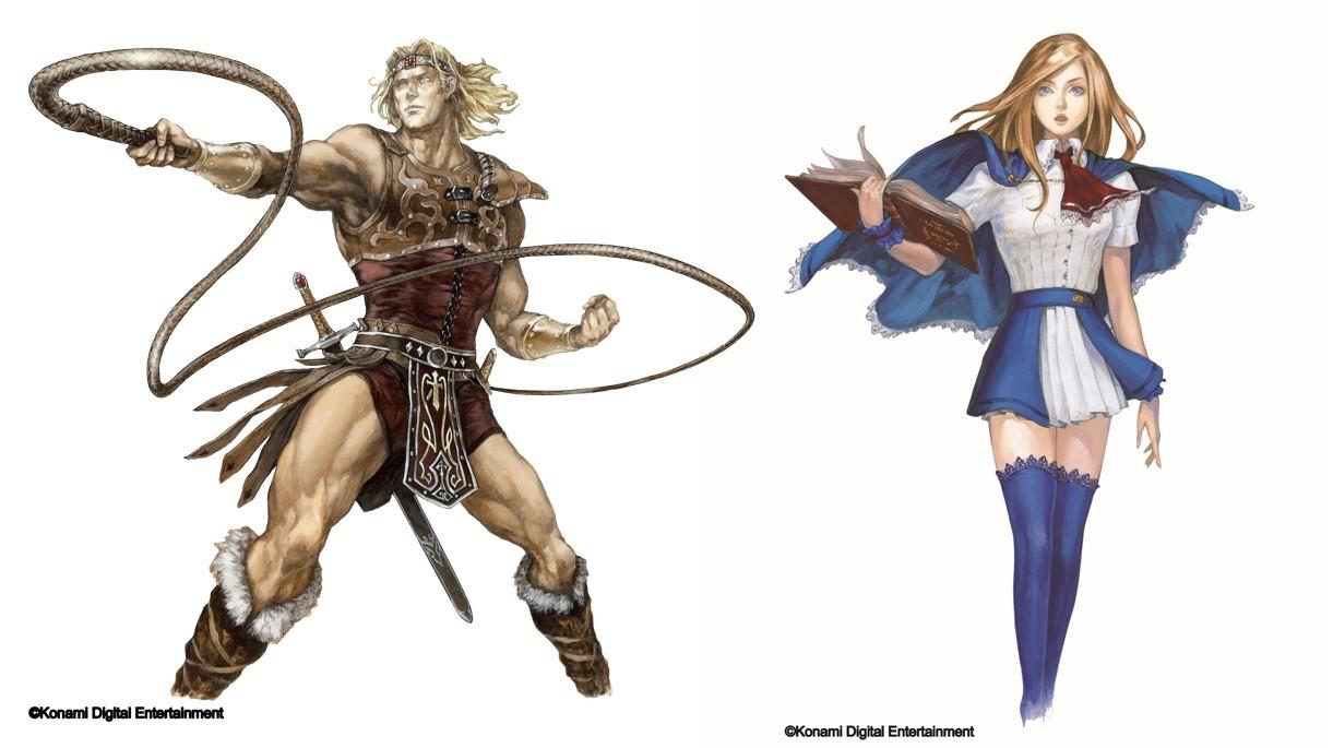 シモン(左)シャーロット(右) (C)Konami Digital Entertainment