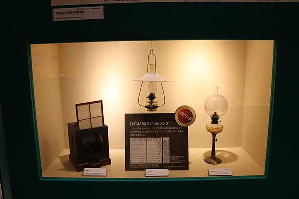 行灯(左)とランプ