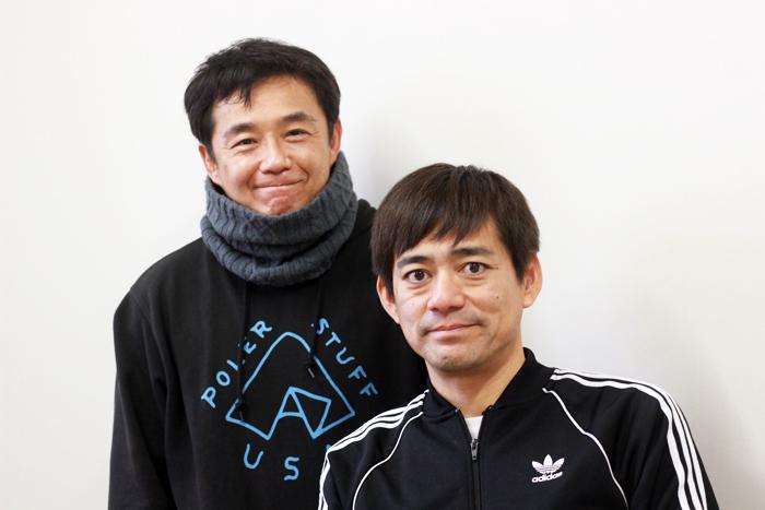 博多華丸(手前)と東憲司