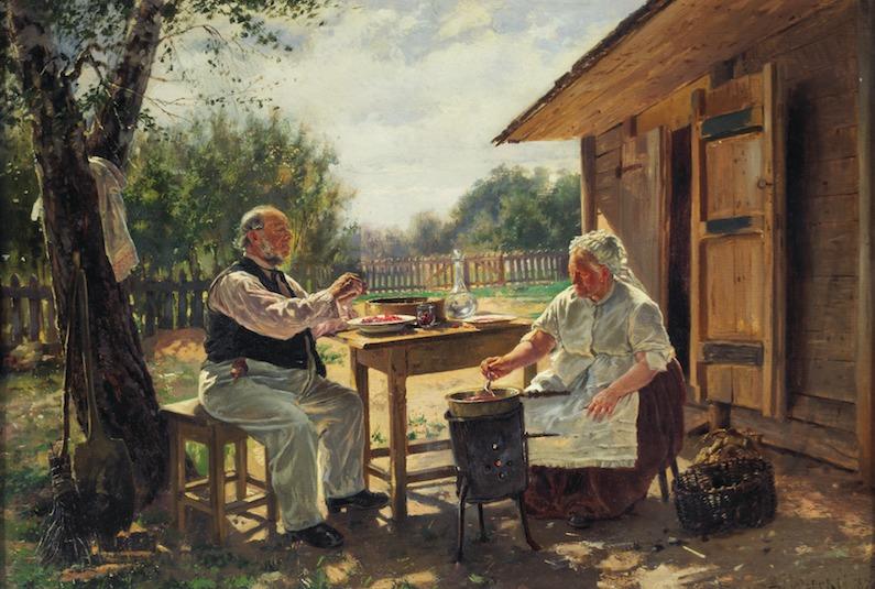 ウラジーミル・マコフスキー 《ジャム作り》 1876年 油彩・キャンヴァス (C) The State Tretyakov Gallery