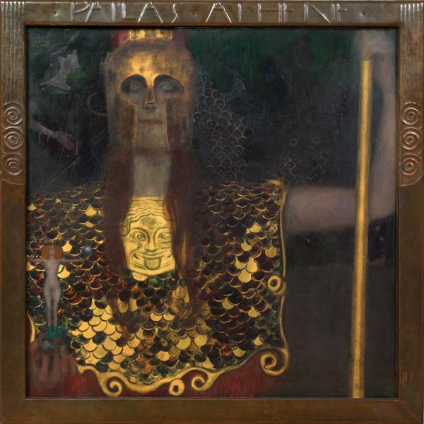 グスタフ・クリムト《パラス・アテナ》1898 年 油彩/カンヴァス 75 x 75 cm ウィーン・ミュージアム蔵 (C)Wien Museum / Foto Peter Kainz