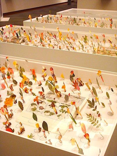 会場風景3 図鑑の分類から解き放たれた色とりどりの草花が咲き乱れる《図鑑採集》シリーズ。こんな庭が現実にあったら楽しい!