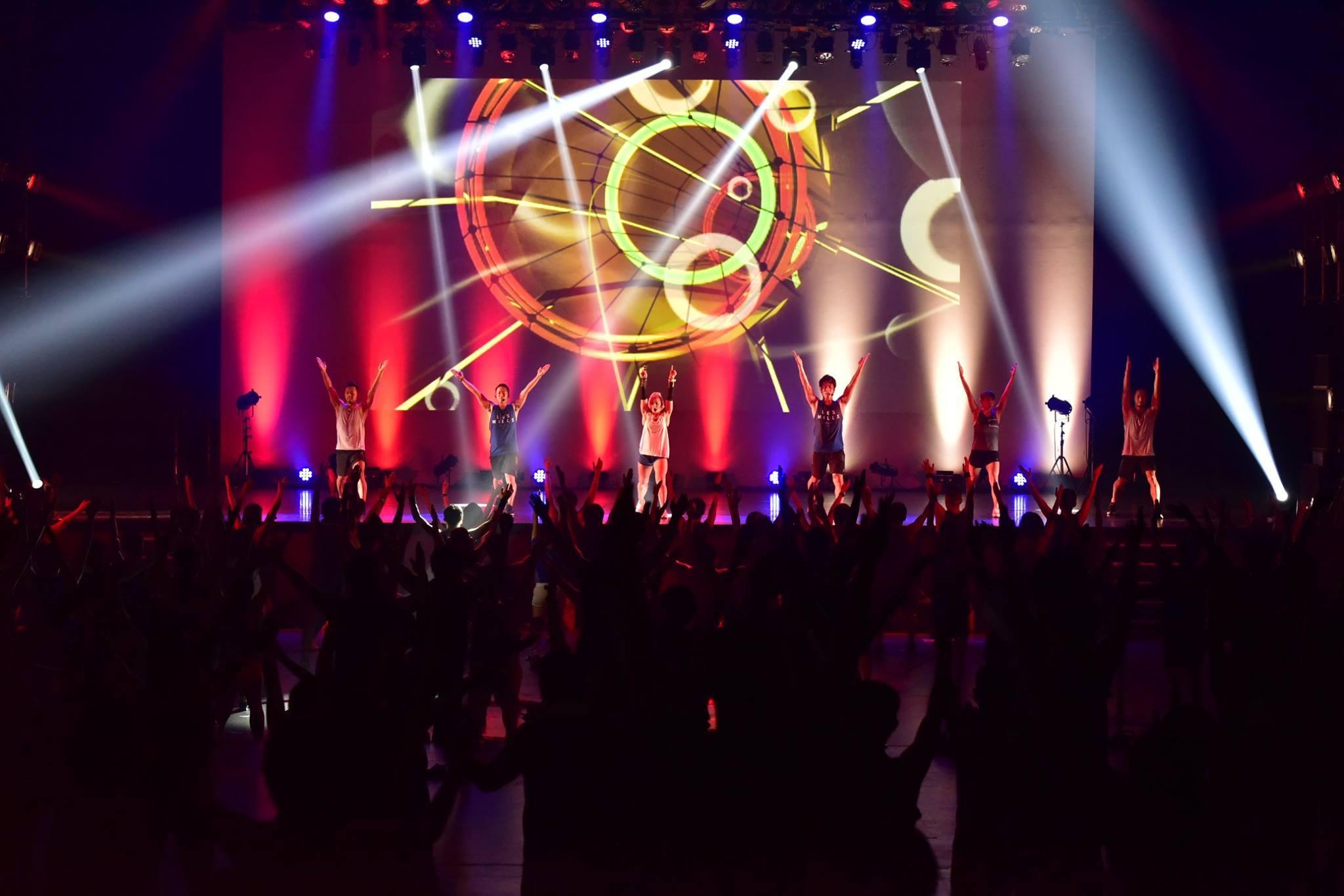 2018年11月に行われた『Les Mills on tour with Reebok in Tokyo』の様子