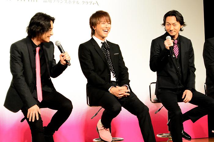 左から木村了、TAKAHIRO、波岡一喜 舞台「MOJO」製作発表記者会見