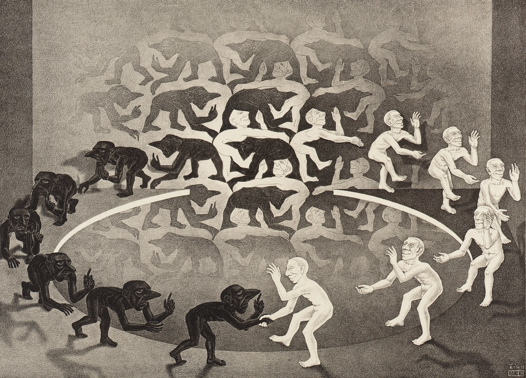 《出会い Encounter.1944》 Copyright Credit: All M.C. Escher works