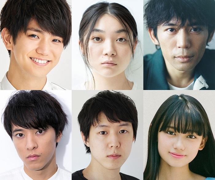 (上段左から)正門良規、三浦透子、岡田義徳(下段左から)松島庄汰、小日向星一、黒崎レイナ