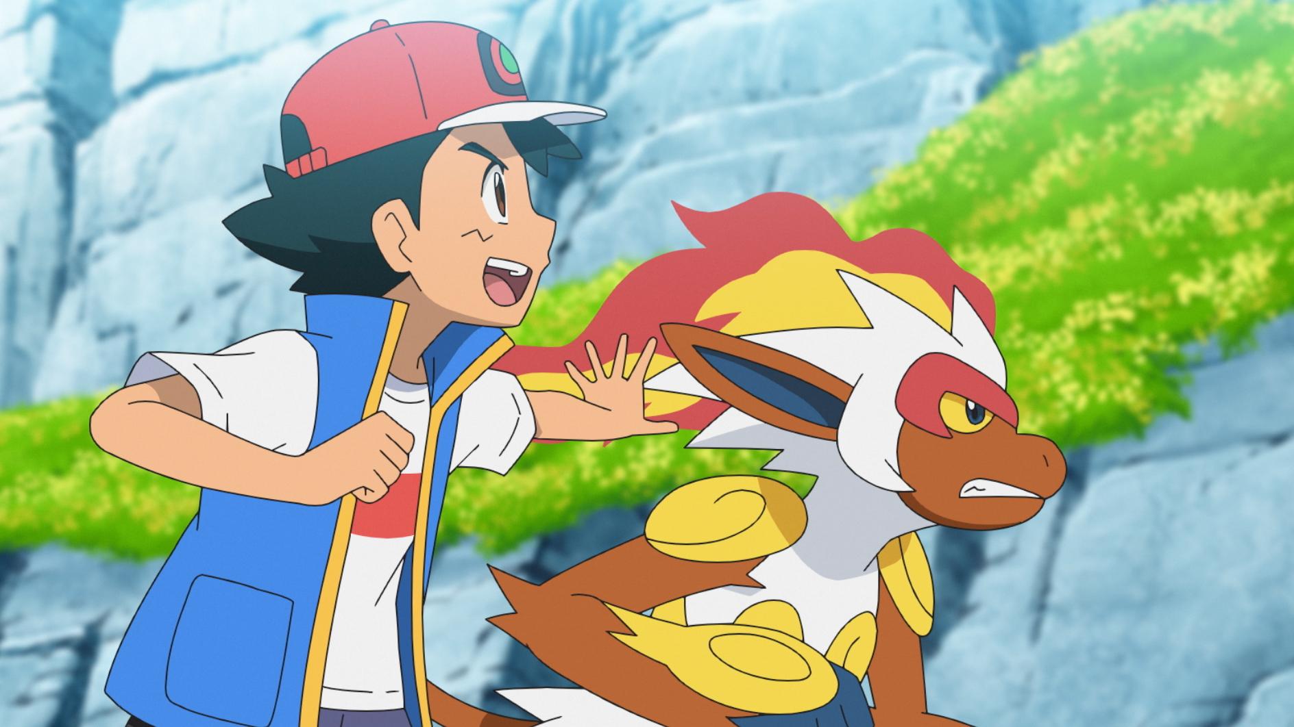サトシ&ゴウカザル (C) Nintendo・Creatures・GAME FREAK・TV Tokyo・ShoPro・JR Kikaku (C)  Pokémon