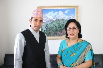 モハン・ドラゴンがネパール大使を表敬訪問 「大使も応援に来てくれるので、ネパール代表として優勝します」