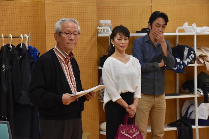 舞台『うつつ』 小松政夫の大生前葬 の稽古場の様子