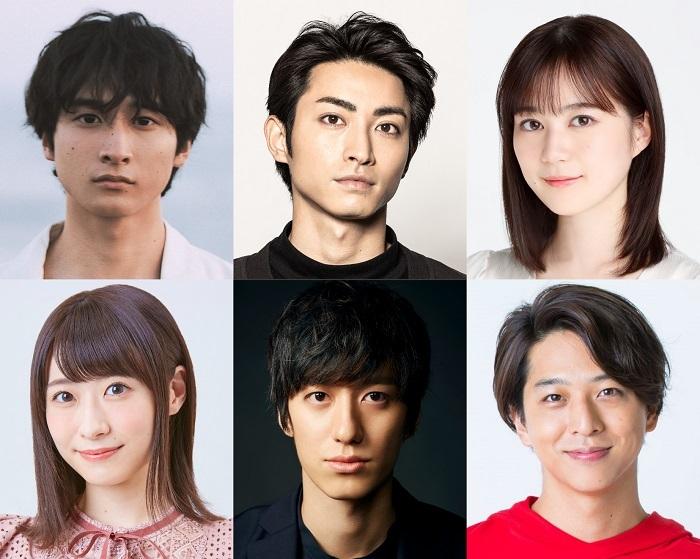 (上段左から)小関裕太、木村達成、生田絵梨花、(下段左から)唯月ふうか、水田航生、寺西拓人