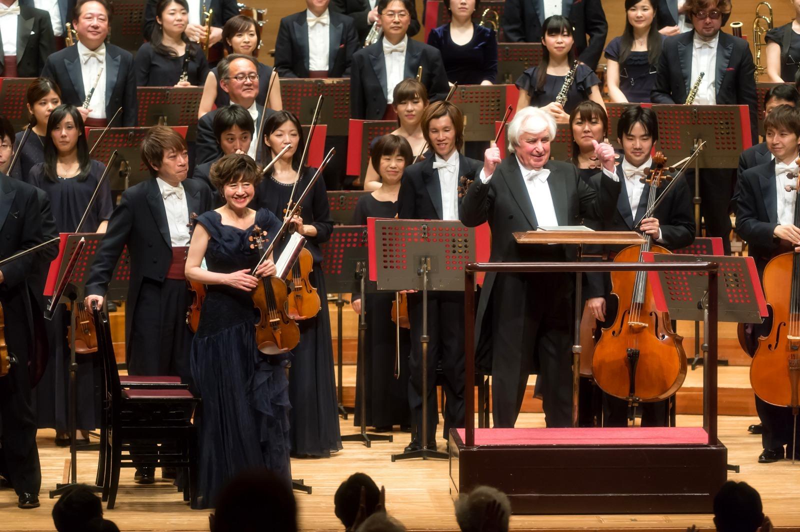 この笑顔ともとお別れとなる(3月26日公演より) (c)池上直哉/東京交響楽団