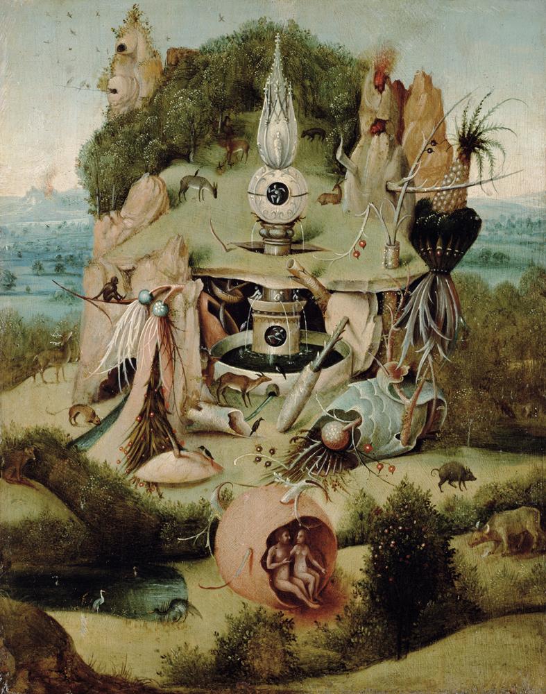ヒエロニムス・ボスの模倣者 《楽園図》 1540-50 年頃 油彩・板
