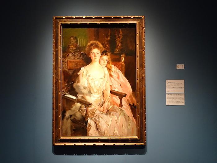 ジョン・シンガー・サージェント《フィスク・ウォレン夫人(グレッチェン・オズグッド)と娘レイチェル》1903年