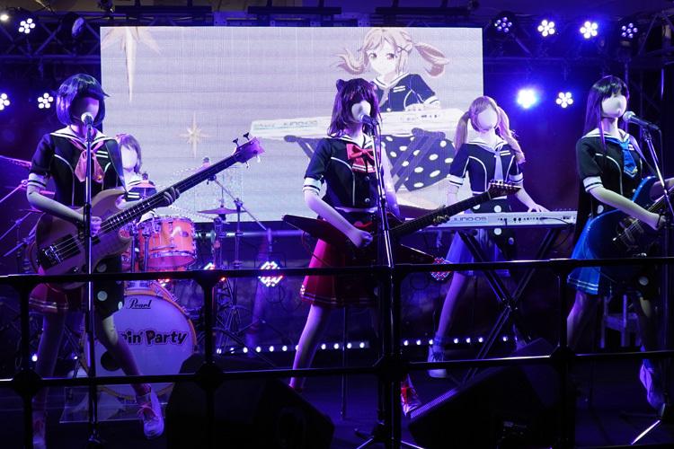 「Poppin'Party」のステージ ライブ中