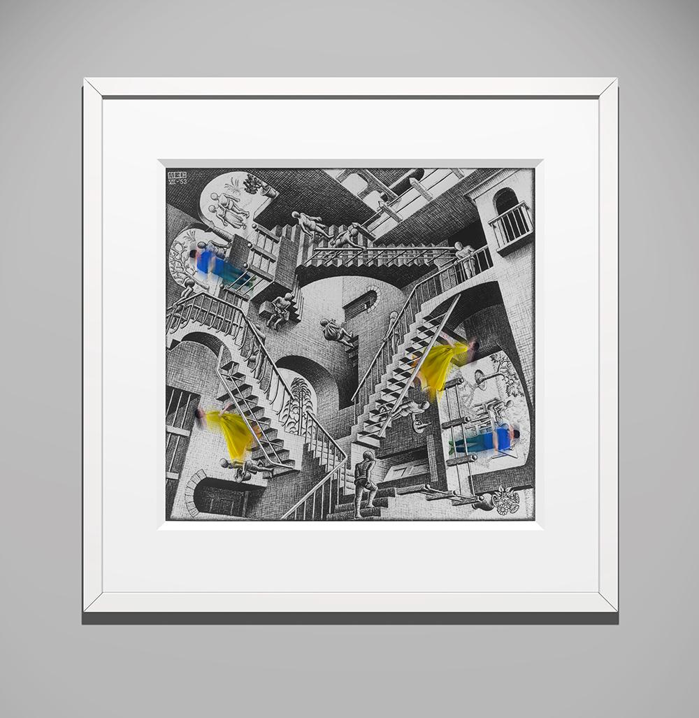 「ミラクル デジタル フュージョン」イメージ All M.C. Escher works (C) The M.C. Escher Company, The Netherlands. All rights reserved. www.mcescher.com