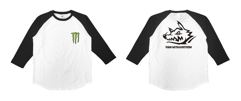 MAN WITH A MISSION / MONSTER ENERGYコラボTシャツ(イメージ)