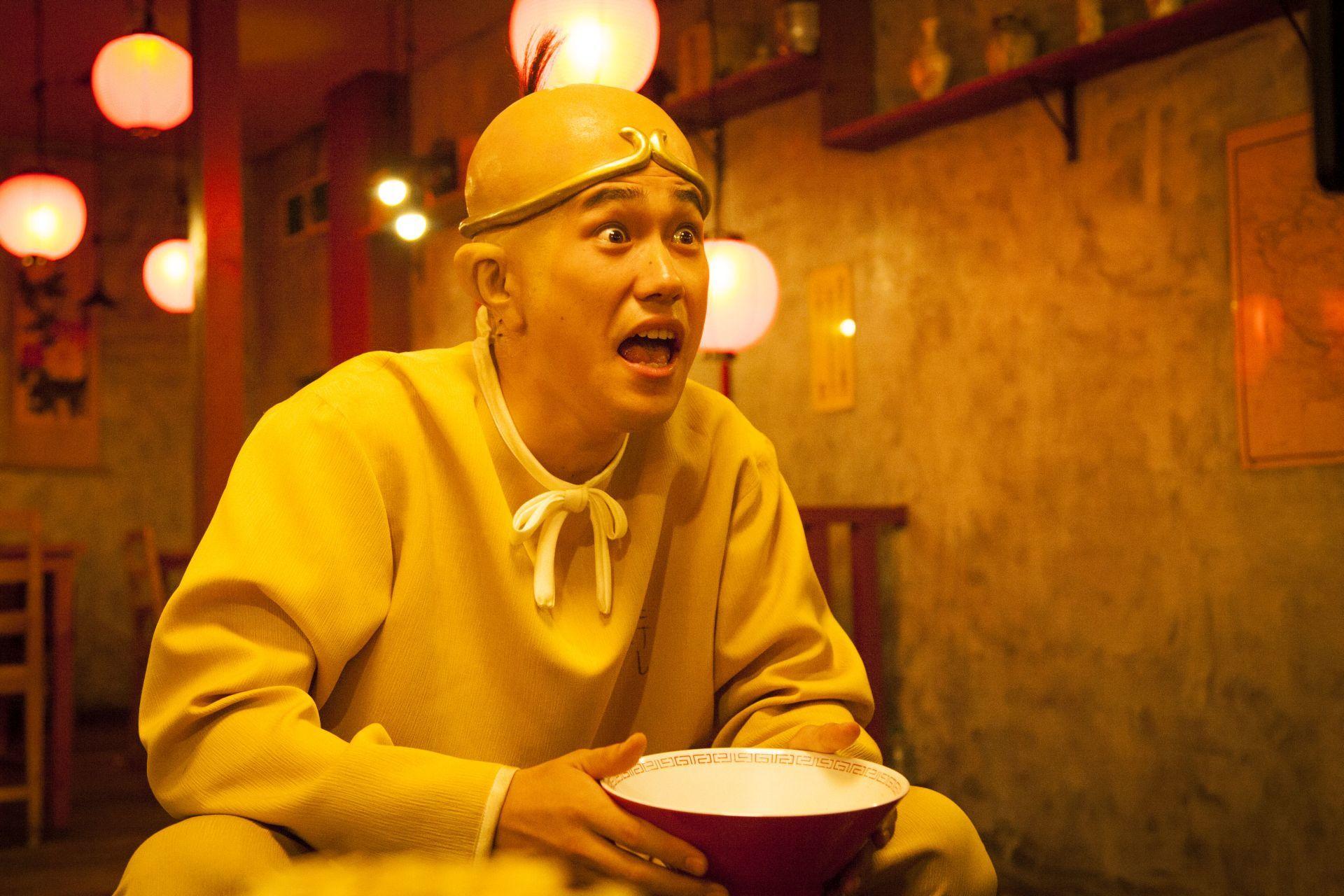松山ケンイチ演じる山田太郎(イイ顔) ⓒ漫☆画太郎/集英社・「珍遊記」製作委員会