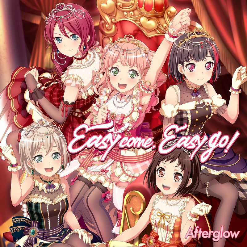 Afterglow「Easy come, Easy go!」ジャケット (C)BanG Dream! Project (C)Craft Egg Inc. (C)bushiroad All Rights Reserved.
