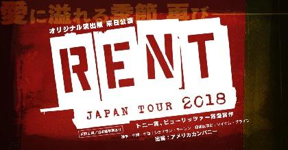 2018年夏、再来日決定! ブロードウェイミュージカル『RENT』