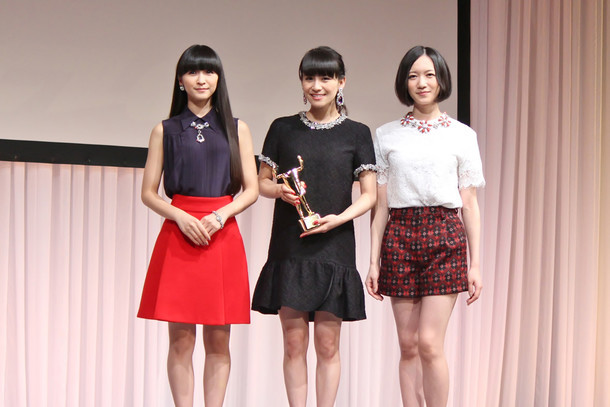 「2015 55th ACC CM FESTIVAL」贈賞式に出席したPerfume。